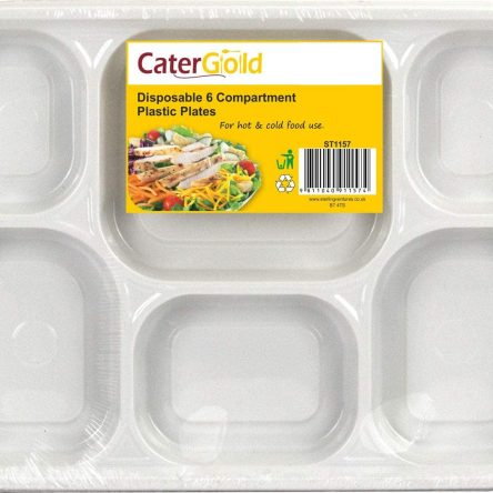 Catergold Disposable 6 Comp. Plate – 50