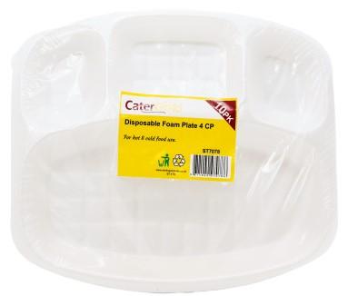 Catergold 4 Comp Dispo Foam Plates – 10